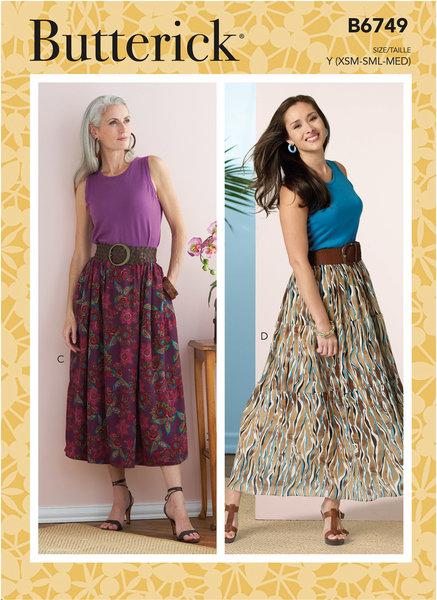 Gathered-Waist Skirts
