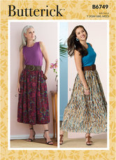 Gathered-Waist Skirts. Butterick 6749.