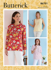 Petite Pullover Tops. Butterick 6751.