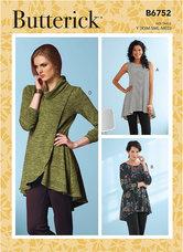 Fit and Flare Knit Tunics. Butterick 6752.