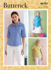 Petite Button-Down Shirts. Butterick 6753.