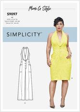 Dress and Jumpsuit, Mimi Goodwin. Simplicity 9097.