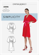 Dress and Top With Tie Belt, Cynthia Rowley. Simplicity 9098.