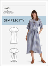 Pullover Dresses In Two Lengths. Simplicity 9101.