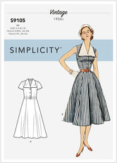 Vintage Dress With Detachable Collar. Vintage. Simplicity 9105.