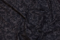 Black cotton with spungy batique-style