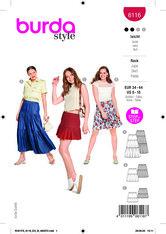 Skirt. Burda 6116.