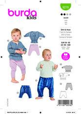 Top + Trousers, Pants. Burda 9278.