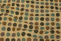 Coated textile fabric with big dots.