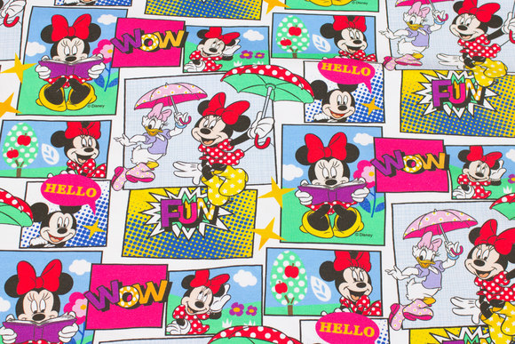 Cotton-jersey with Minnie and friends