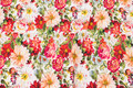 Cotton-jersey with summer-flowers in red nuances.