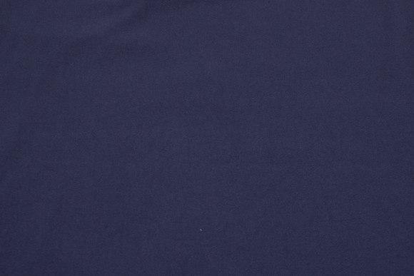 Dark navy blue stretch-crepe