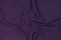 Dark purple and beautiful cotton with little 2 mm white dots