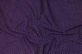 Dark purple and beautiful cotton with little 2 mm white dots.