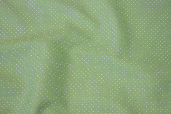 Light apple-green cotton with white mini-dots