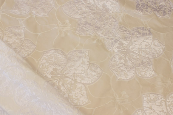Lovely, white taffeta with shiny pattern