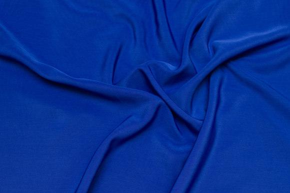 Micro silk-look in cobolt-blue