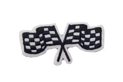 Motor-flag iron-on-patch ca. 5 x 2 cm