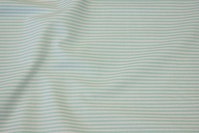 Narrow-striped cotton in mint and white