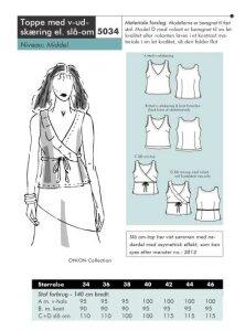 Onion pattern: Wrap-around shirt