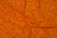 Orange cotton with spungy batique-style