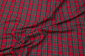 Red-green bomulds-flannel with small clan checks.