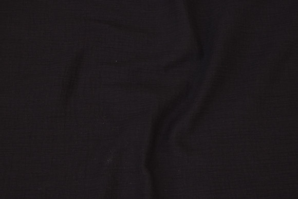 Soft double woven cotton (double-gaze) in black