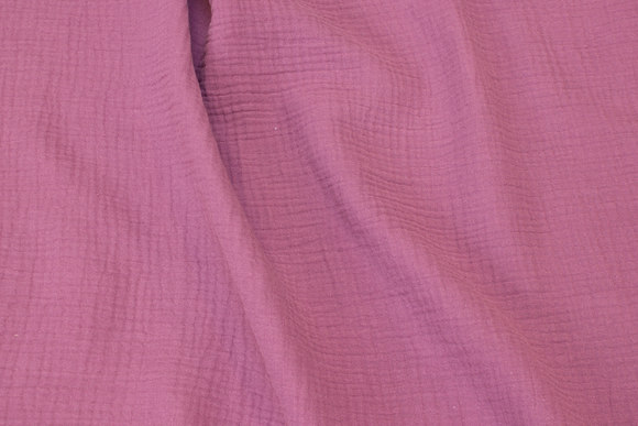 Soft double-woven cotton (double-gaze) in heather-colored