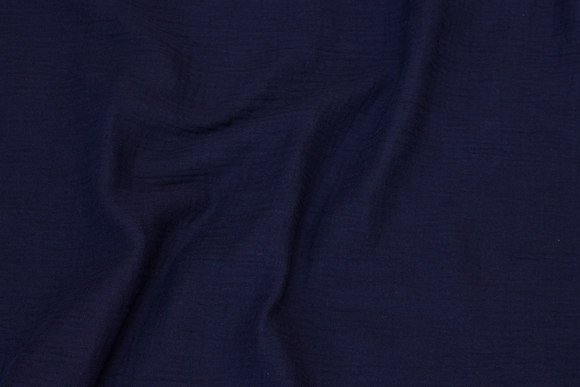 Soft double woven cotton (double-gaze) in navy blue