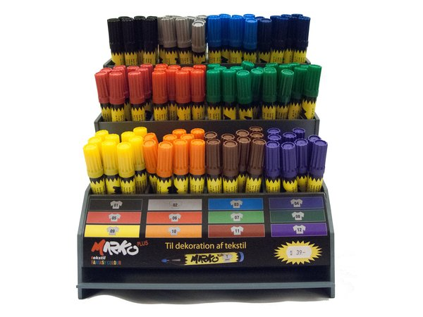 Textil-pens, usable on cotton, wool, synthetic