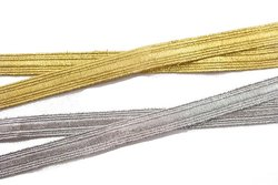 Decoration drape in gold or silver, 10 mm wide