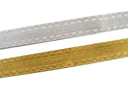 Decoration drape in gold or silver, 20 mm wide