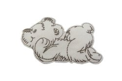 Teddy patch off white 6x3cm