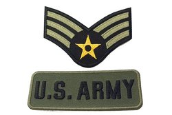 2 stk iron on patches, US army