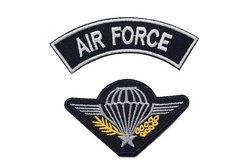 2 pcs iron-on motif, air force