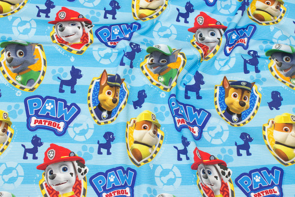 Turqoise cotton-jersey with Paw Patrol