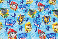 Turqoise cotton-jersey with Paw Patrol.