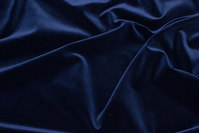 Velvet in classic woven quality in dark navy