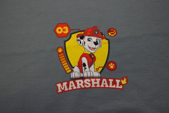 Grey front-piece in cotton-jersey with Paw Patrol, Marshall