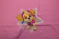 Pink front-piece in cotton-jersey with paw patrol.