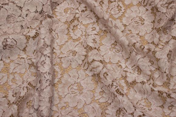 Elegant dress-lace-fabric in batique-powder-colored