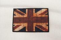 British flag, rustic 5x8cm.