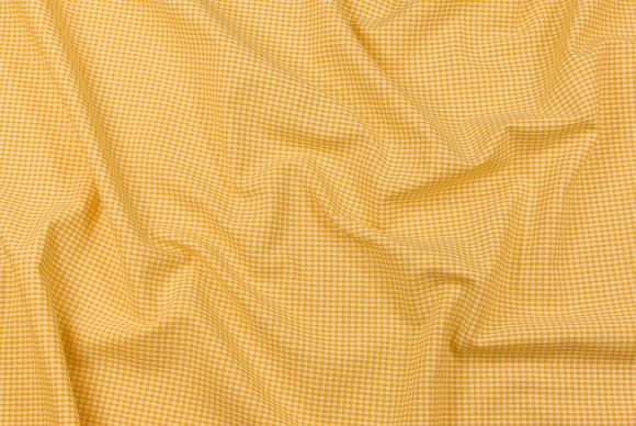 Small checkered cotton in yellow and white