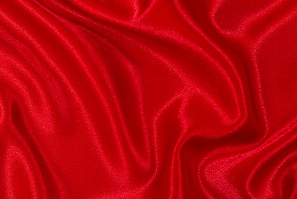 Crepe sateen in red