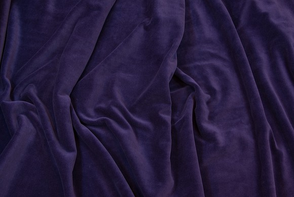 Stretch velvet dark purple