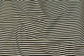 Twill woven cotton fabric with black and white stripes. 