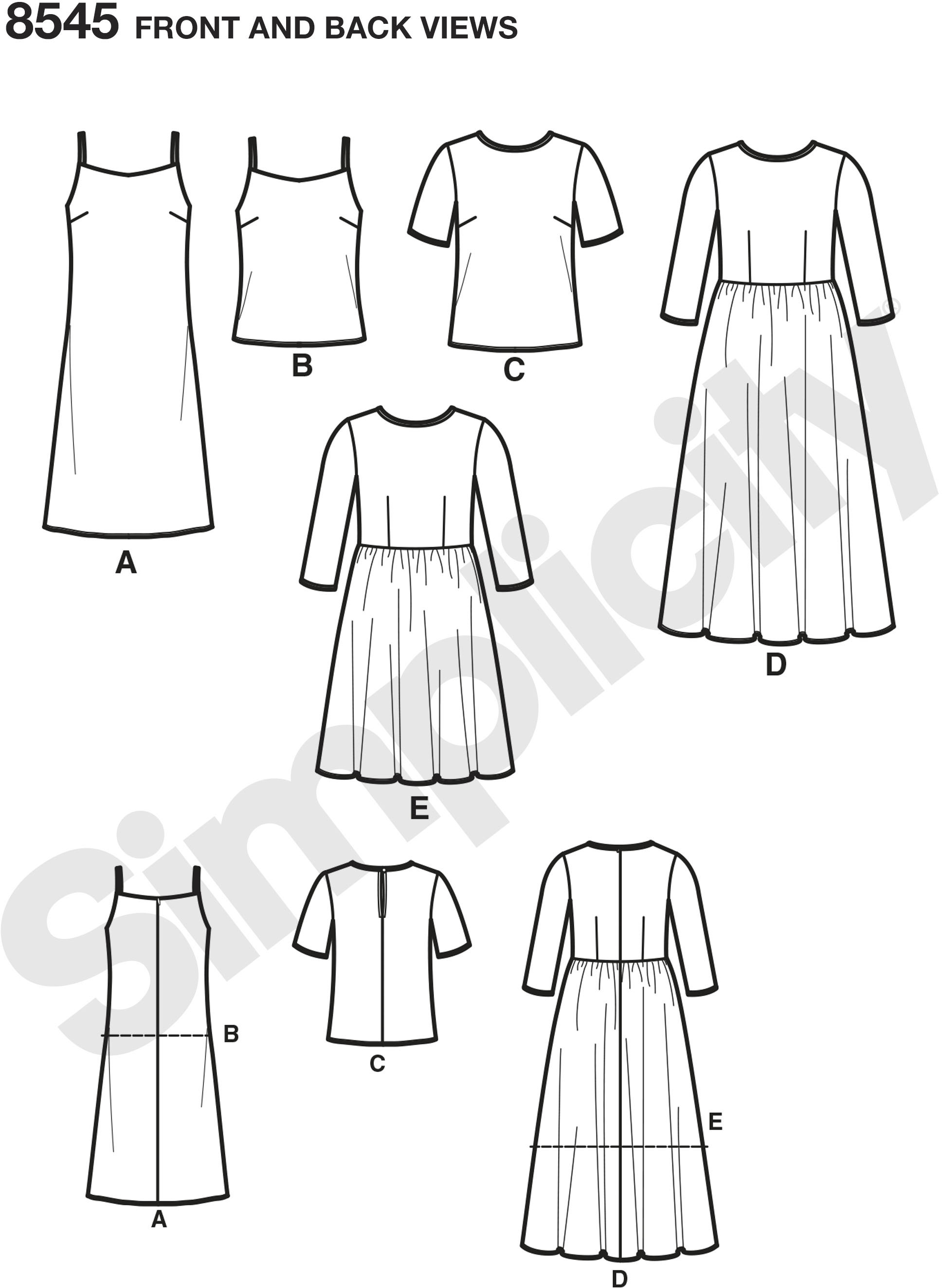 Petite sheer dress or top with slip dress or camisole is lovely for a special occasion and suitable for border prints and novelty sheer fabrics such as embroidered mesh. Simplicity sewing pattern, Fit for Petite.