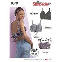 Simplicity 8549. Bra Tops.