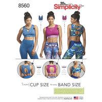 Simplicity 8560. Knit Sports Bras.