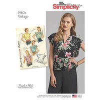 Simplicity 8593. Vintage Poncho Blouses.